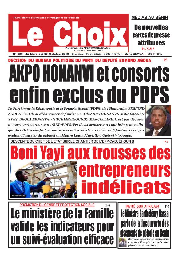 Journal du b nin - Cabinet d expertise comptable au benin ...